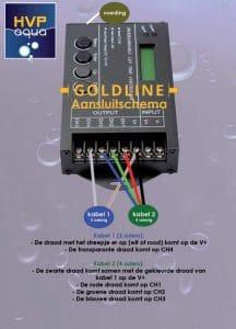 Aansluitschema TC420 op HVP Aqua Goldline - Aquarium LED Verlichting