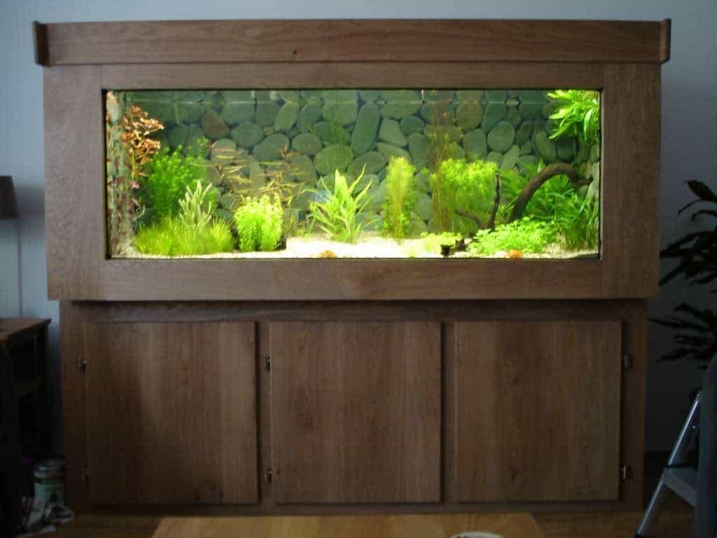 Zelfbouw houten aquarium