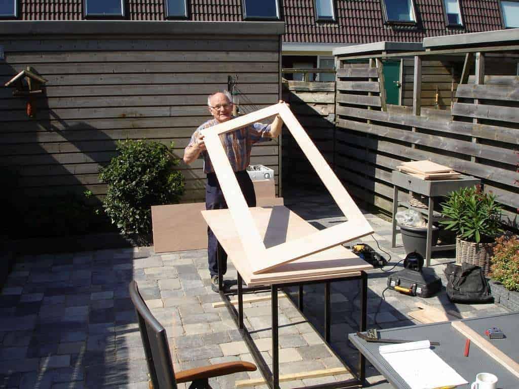 Zelfbouw houten aquarium - Houten frame