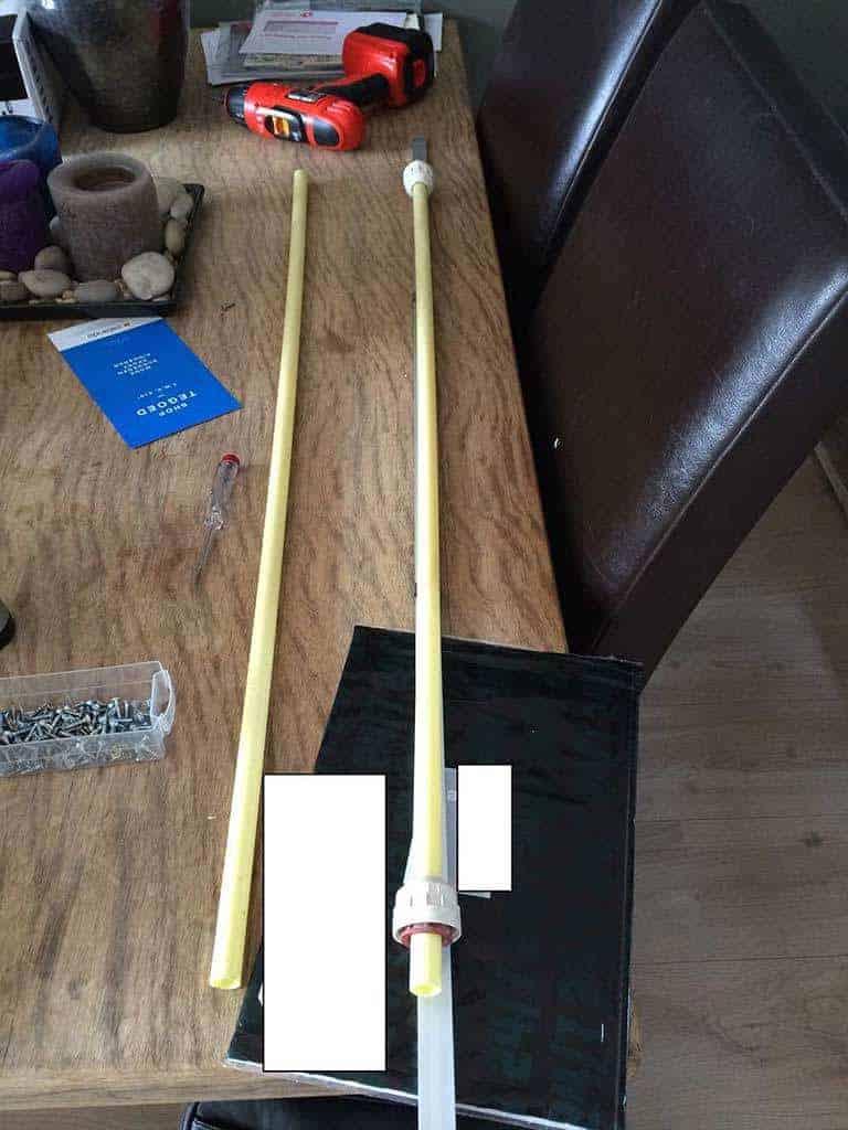 PVC buis met Aquarium doppen