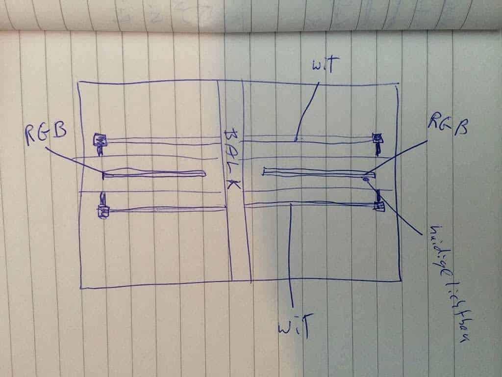 Installatie schema HVP Aqua LED