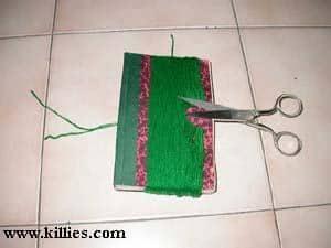 Knip wol aan de achterkant door