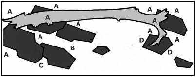 Houten brug plattegrond