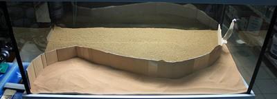 Aquarium inrichting - zand scheiden