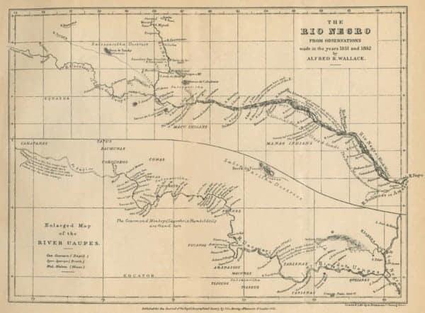 kaart van de Rio Negro