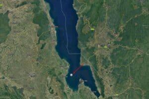 Nakantenga Island op de kaart